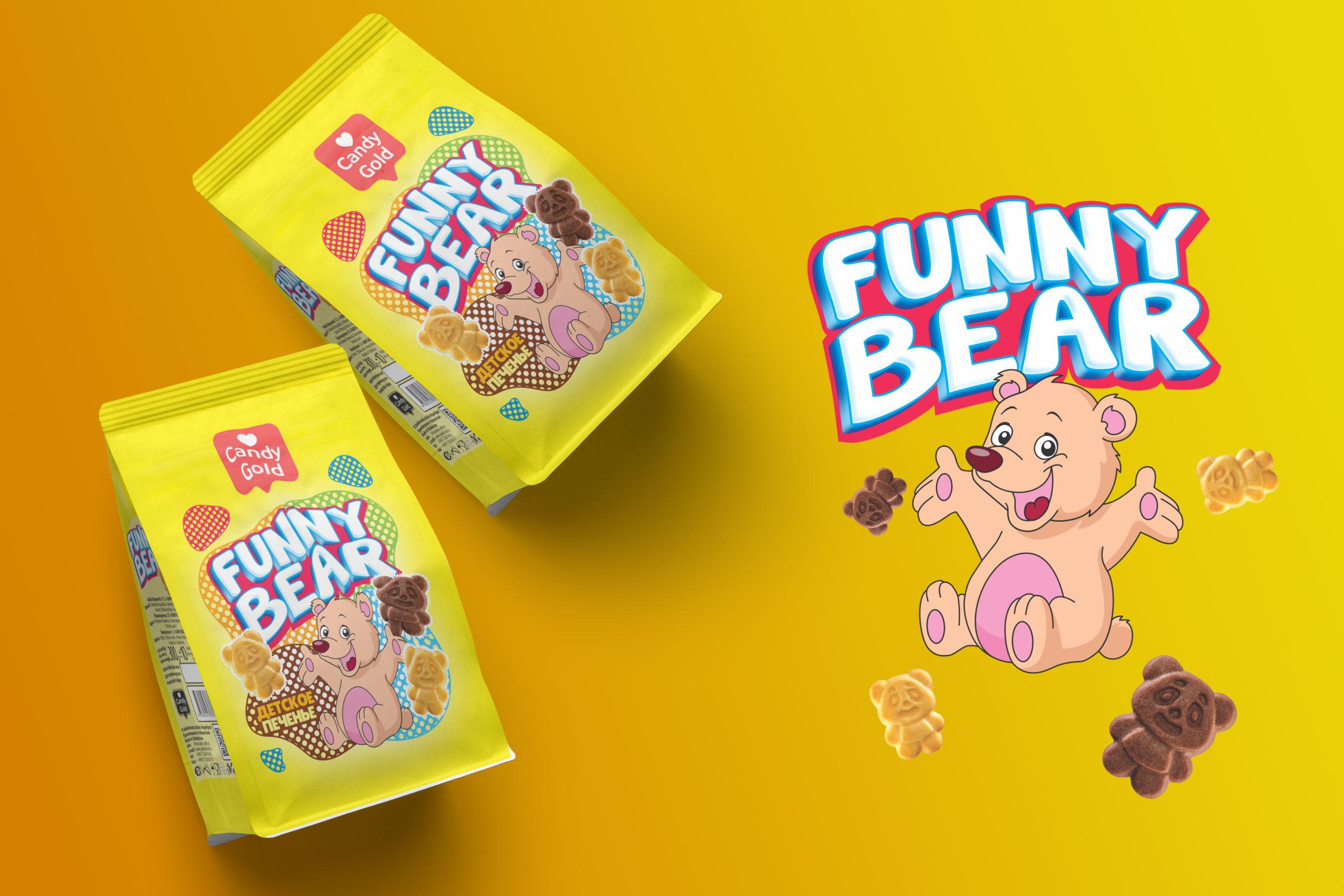 """""""Funny Bear"""" Печенья теперь в новом и ярком упаковке.. Вес продукта 300 г"""