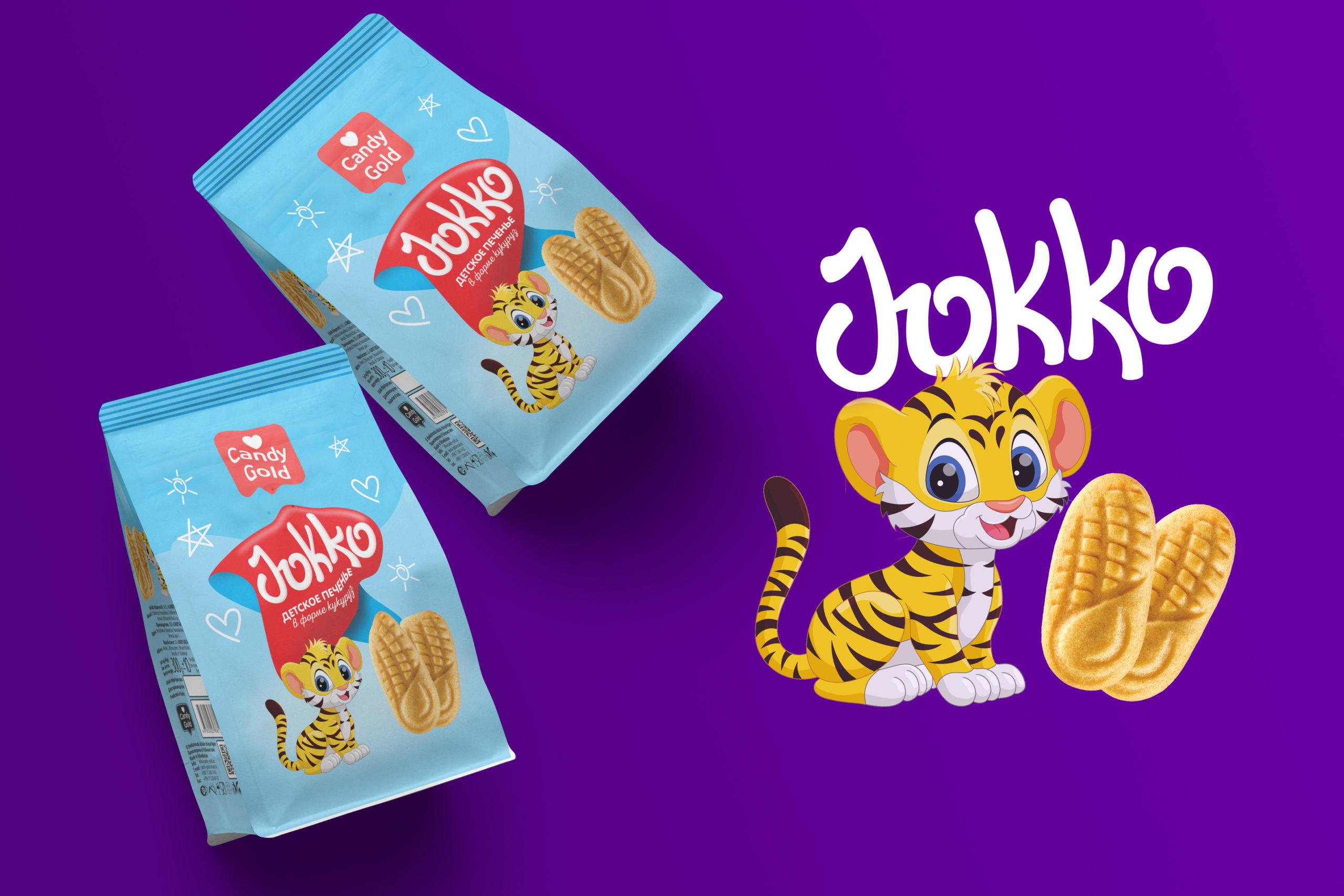 """""""Jokko"""" Печенья теперь в новом и ярком упаковке. Вес продукта 300 гр."""